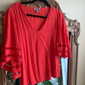 Chelsea 28 Neon red blouse